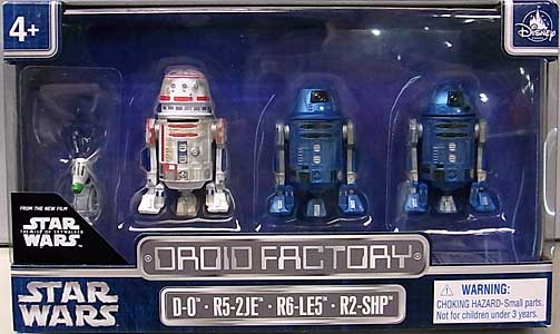 STAR WARS USAディズニーテーマパーク限定 STAR WARS: THE RISE OF SKYWALKER DROID FACTORY 4PACK [D-0、R5-2JE、R6-LE5、R2-SHP]