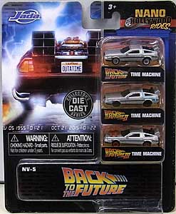 JADA TOYS NANO HOLLYWOOD RIDES BACK TO THE FUTURE TIME MACHINE 3PACK