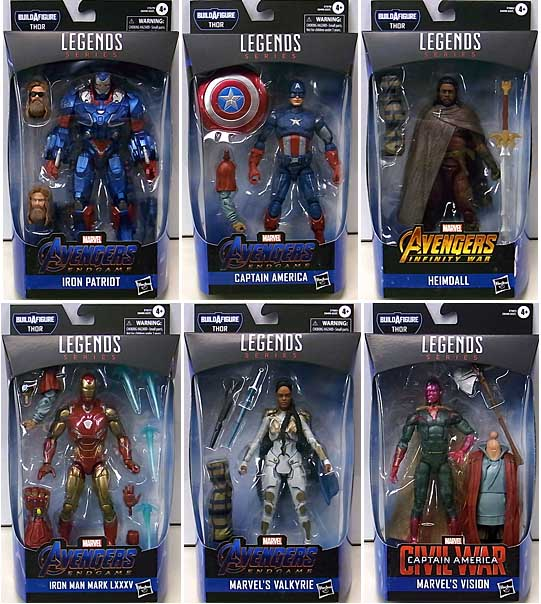 HASBRO MARVEL LEGENDS 2019 AVENGERS: ENDGAME SERIES 3.0 6種セット [THOR SERIES]