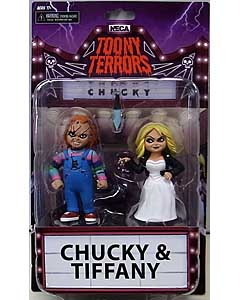 NECA TOONY TERRORS BRIDE OF CHUCKY CHUCKY & TIFFANY 2PACK