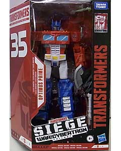HASBRO TRANSFORMERS SIEGE 35TH ANNIVERSARY VOYAGER CLASS CLASSIC ANIMATION OPTIMUS PRIME パッケージ傷み特価
