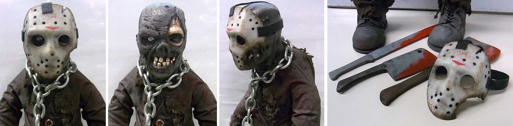 個人ハンドメイド品 MODERN HORROR CUSTOM DOLL JASON VOORHEES [A]