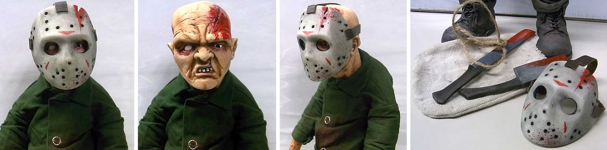 個人ハンドメイド品 MODERN HORROR CUSTOM DOLL JASON VOORHEES [C]