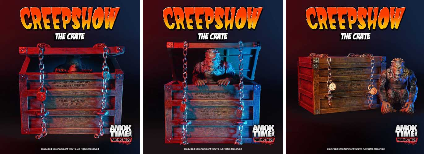 AMOK TIME MONSTARZ 3.75インチスケールアクションフィギュア CREEPSHOW THE CRATE