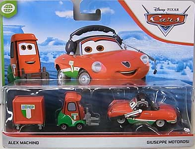 MATTEL CARS 2019 2PACK ALEX MACHINO & GIUSEPPE MOTOROSI