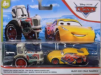 MATTEL CARS 2019 2PACK BUMPER SAVE RACING TRACTOR & RUST-EZE CRUZ RAMIREZ 台紙傷み特価