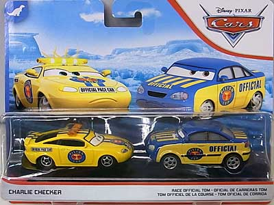 MATTEL CARS 2019 2PACK CHARLIE CHECKER & RACE OFFICIAL TOM