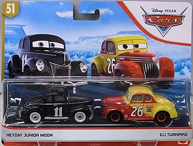 MATTEL CARS 2019 2PACK HEYDAY JUNIOR MOON & ELI TURNPIKE 台紙傷み特価