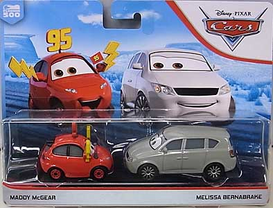 MATTEL CARS 2019 2PACK MADDY McGEAR & MELISSA BERNABRAKE