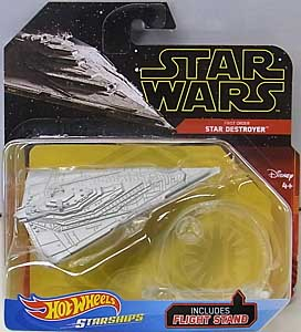 MATTEL HOT WHEELS STAR WARS DIE-CAST VEHICLE 2019 FIRST ORDER STAR DESTROYER 台紙傷み特価
