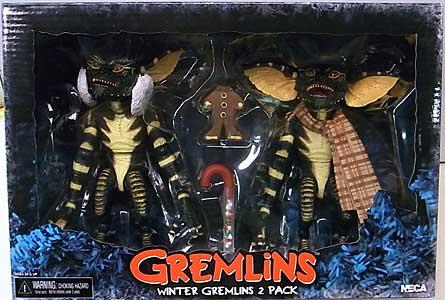 NECA GREMLINS 7インチスケールアクションフィギュア WINTER GREMLINS 2PACK SET 2