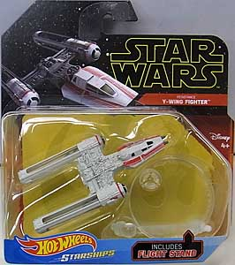 MATTEL HOT WHEELS STAR WARS DIE-CAST VEHICLE 2019 RESISTANCE Y-WING FIGHTER 台紙傷み特価