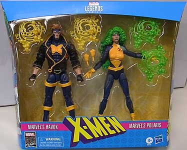 HASBRO MARVEL LEGENDS 2019 MARVEL 80 YEARS 2PACK X-MEN MARVEL'S HAVOK & MARVEL'S POLARIS