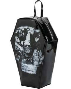 ROCK REBEL MONSTER COLLAGE COFFIN BACKPACK