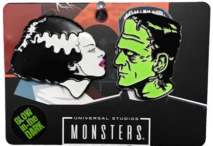 ROCK REBEL ENAMEL PIN BRIDE & FRANKENSTEIN SET
