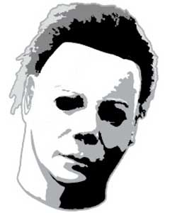 ROCK REBEL ENAMEL PIN MICHAEL MYERS HEAD