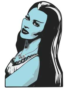 ROCK REBEL ENAMEL PIN LILY MUNSTER
