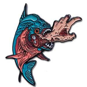 LUNAR CRYPT ENAMEL PIN KILLER FISH [BLUE]
