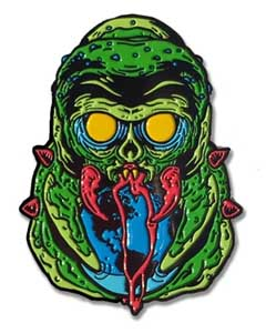 LUNAR CRYPT ENAMEL PIN THE MONSTER THAT CHALLENGED THE WORLD