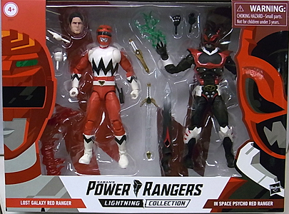 HASBRO POWER RANGERS LIGHTNING COLLECTION 6インチアクションフィギュア 2PACK LOST GALAXY RED RANGER & IN SPACE PSYCHO RED RANGER パッケージ傷み特価