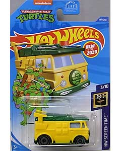 MATTEL HOT WHEELS 1/64スケール 2020 HW SCREEN TIME TEENAGE MUTANT NINJA TURTLES PARTY WAGON #147