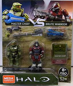 MEGA CONSTRUX HALO INFINIT MASTER CHIEF VS BRUTE WARRIOR 2PACK