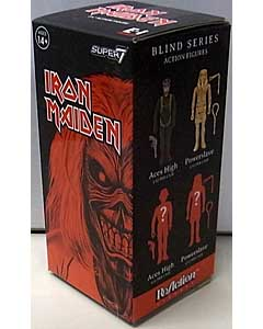 SUPER 7 REACTION FIGURES 3.75インチアクションフィギュア IRON MAIDEN EDDIE BLIND BOX 1 BOX