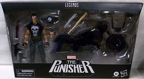 HASBRO MARVEL LEGENDS 2020 PUNISHER WITH MOTORCYCLE
