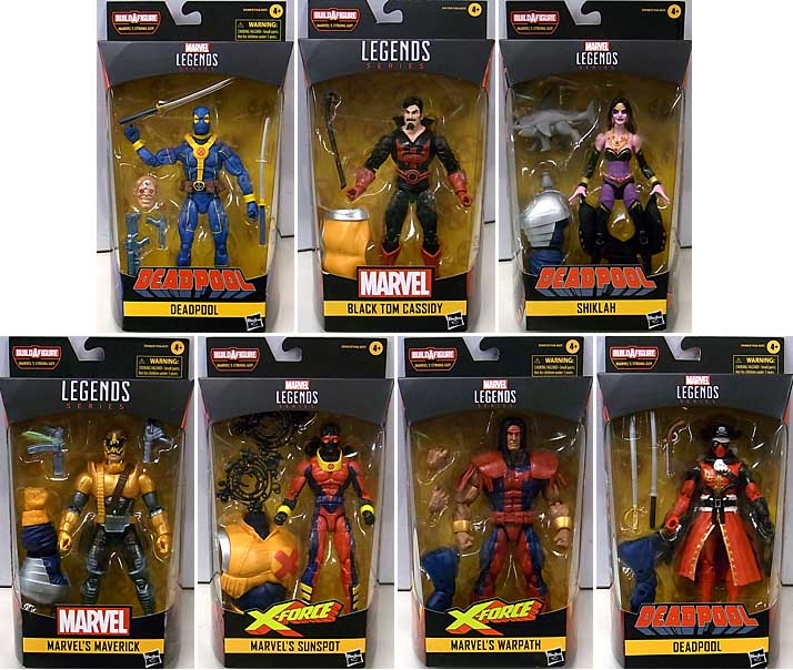 HASBRO MARVEL LEGENDS 2020 DEADPOOL SERIES 3.0 7種セット [STRONG GUY SERIES]