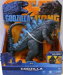 PLAYMATES GODZILLA VS. KONG 6インチベーシックアクションフィギュア GODZILLA WITH RADIO TOWER