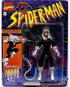 HASBRO MARVEL LEGENDS RETRO 6-INCH COLLECTION SPIDER-MAN MARVEL'S BLACK CAT ワケアリ特価