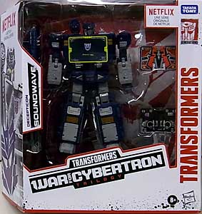 HASBRO NETFLIX TRANSFORMERS: WAR FOR CYBERTRON TRILOGY VOYAGER CLASS DECEPTICON SOUNDWAVE