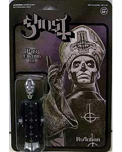 SUPER 7 REACTION FIGURES 3.75インチアクションフィギュア GHOST PAPA EMERITUS III [BLACK METAL]