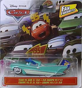 MATTEL CARS 2020 FAN FAVORITES シングル TEAM 95 AND 51 FLO 台紙傷み特価