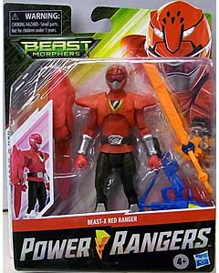 HASBRO POWER RANGERS BEAST MORPHERS 6インチアクションフィギュア BEAST-X RED RANGER