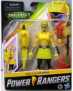 HASBRO POWER RANGERS BEAST MORPHERS 6インチアクションフィギュア BEAST-X YELLOW RANGER