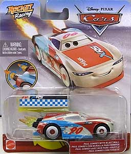 MATTEL CARS 2020 XTREME RACING SERIES ROCKET RACING シングル PAUL CONREV WITH BLAST WALL