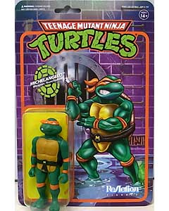 SUPER 7 REACTION FIGURES 3.75インチアクションフィギュア TEENAGE MUTANT NINJA TURTLES WAVE 1 MICHELANGELO