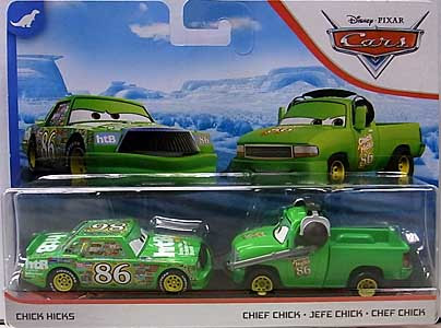MATTEL CARS 2020 2PACK CHICK HICKS & CHIEF CHICK 台紙傷み特価