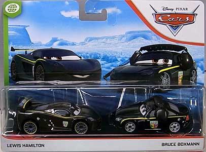 MATTEL CARS 2020 2PACK LEWIS HAMILTON & BRUCE BOXMAN