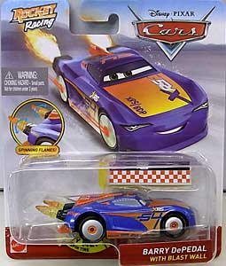 MATTEL CARS 2020 XTREME RACING SERIES ROCKET RACING シングル BARRY DEPEDAL WITH BLAST WALL