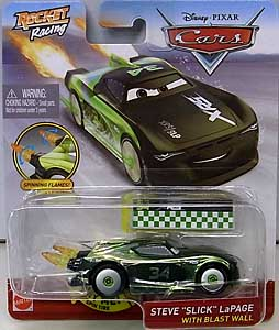 MATTEL CARS 2020 XTREME RACING SERIES ROCKET RACING シングル STEVE SLICK LAPAGE WITH BLAST WALL 台紙傷み特価