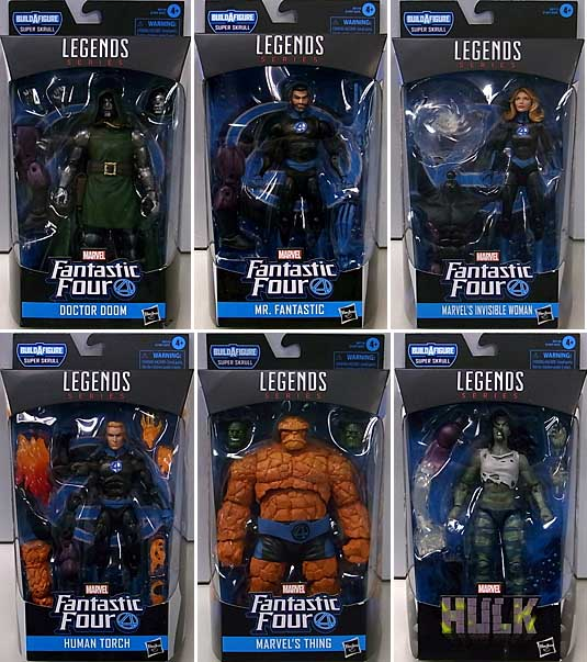 HASBRO MARVEL LEGENDS 2020 FANTASTIC FOUR SERIES 1.0 6種セット [SUPER SKRULL SERIES]