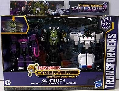 HASBRO アニメ版 TRANSFORMERS CYBERVERSE BATTLE FOR CYBERTRON QUINTESSON INVASION 3PACK