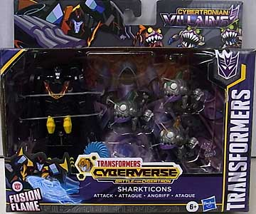 HASBRO アニメ版 TRANSFORMERS CYBERVERSE BATTLE FOR CYBERTRON SHARKTICONS ATTACK 4PACK