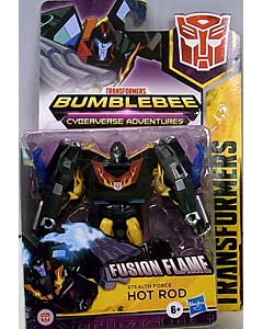 HASBRO アニメ版 TRANSFORMERS BUMBLEBEE CYBERVERSE ADVENTURE WARRIOR CLASS STEALTH FORCE HOT ROD 台紙傷み特価
