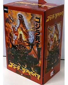 NECA GODZILLA TARGET限定 6インチサイズアクションフィギュア GODZILLA VS. DESTOROYAH BURNING GODZILLA [MOVIE POSTER BOX Ver.]