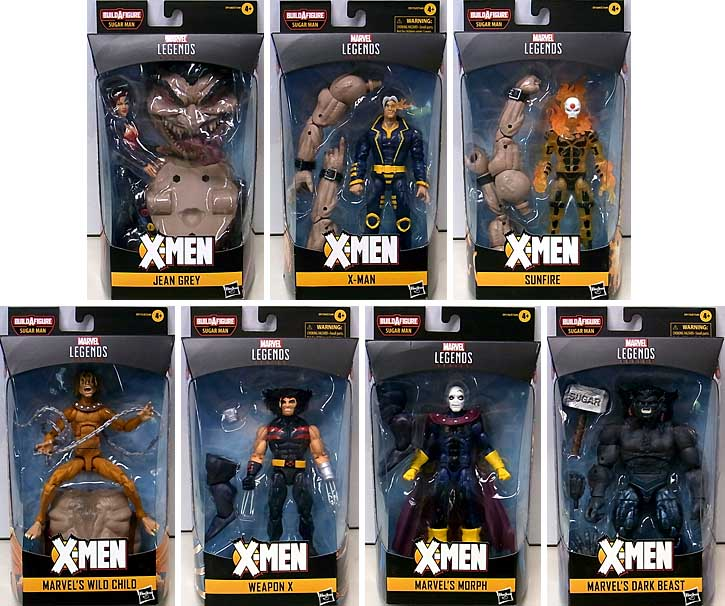 HASBRO MARVEL LEGENDS 2020 X-MEN SERIES 5.0 7種セット [SUGAR MAN SERIES]