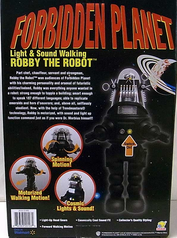 その他・海外メーカー WALMART限定 FORBIDDEN PLANET LIGHT & SOUND WALKING ROBBY THE ROBOT [NEW PACKAGE]