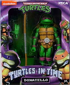NECA TEENAGE MUTANT NINJA TURTLES TURTLES IN TIME 7インチアクションフィギュア シリーズ1 DONATELLO
